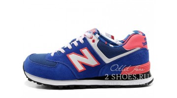 Кроссовки Женские New Balance WL574YCB Blue White Pink