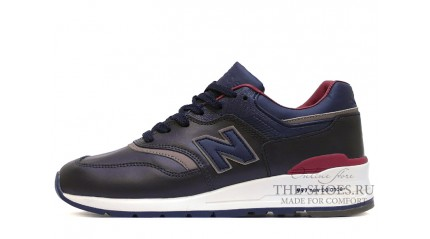 997 КРОССОВКИ МУЖСКИЕ<br/> NEW BALANCE 997 BLUE DEEP VINOUS LEATHER