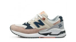 New Balance W530SC White Pink Blue белые