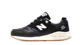 New Balance M530ATB Black White Leather черные кожаные