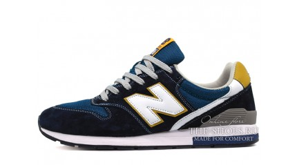New Balance 996 Blue Dark Yellow