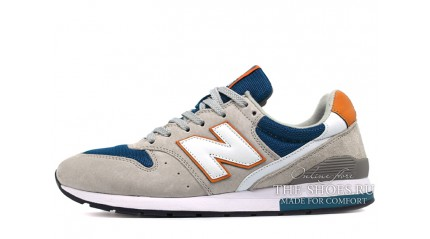 New Balance 996 Gray Blue Dark Orange