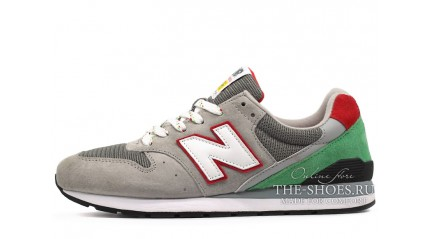 New Balance 996 Grey Green Red