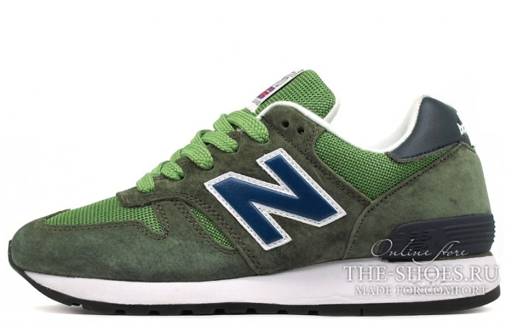New Balance M670FON Green Blue зеленые