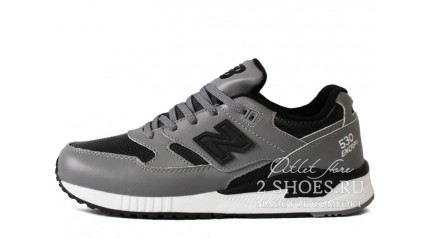 New Balance 530 Gray Black Leather