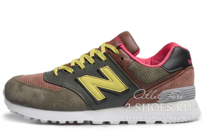Кроссовки New Balance 574 Green Brown Yellow