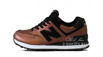New Balance WL574KSB Sheen Pack Brown