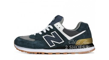 Кроссовки мужские New Balance 574 Obsidian blue Grey White
