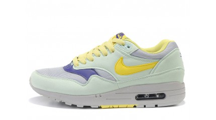 Air Max 1 КРОССОВКИ ЖЕНСКИЕ<br/> NIKE AIR MAX 87 LIGHT MINT GRAY YELLOW