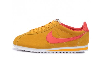 Nike Cortez Yellow Suede Pink