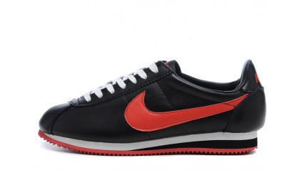 Nike Cortez Leather Black Red