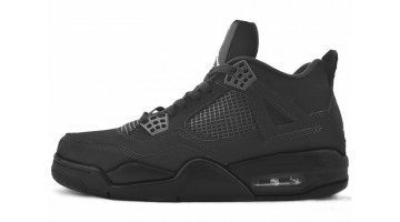 Кроссовки женские Nike Air Jordan 4 Black Cat Light Graphite