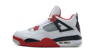 Кроссовки мужские Nike Air Jordan 4 White Varsity Red