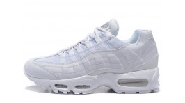 Nike Air Max 95 Classic Pure White Leather белые кожаные