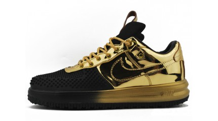 Nike Lunar Force 1 DUCKBOOT Low Gold Black