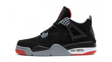 Кроссовки мужские Nike Air Jordan 4 Black Cement Grey Red