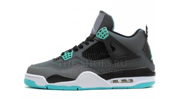 Кроссовки женские Nike Air Jordan 4 Grey Cement Green Glow