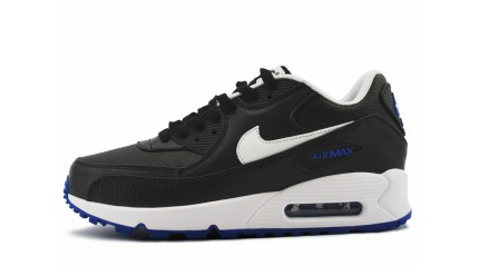 Air Max 90 КРОССОВКИ МУЖСКИЕ<br/> NIKE AIR MAX 90 LEATHER BLACK INSTEP BLUE