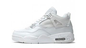 Кроссовки мужские Nike Air Jordan 4 White GS 25th Anniversary
