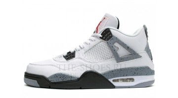 Кроссовки мужские Nike Air Jordan 4 White Cement Grey