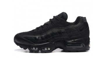 Кроссовки Мужские Nike Air Max 95 Black Full Leather Classic