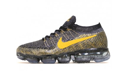 Nike Air VaporMax Flyknit Dark Grey​ yellow