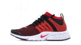 Nike Air Presto Ultra Flyknit Bright Crimson Black черные красно-малиновые
