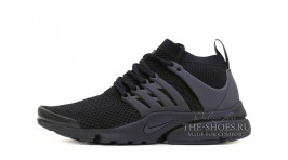 Nike Air Presto Ultra Flyknit Black Full черные