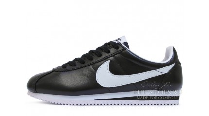 Nike Cortez Leather Black White