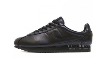 Кроссовки Мужские Nike Cortez Leather Full Black Classic