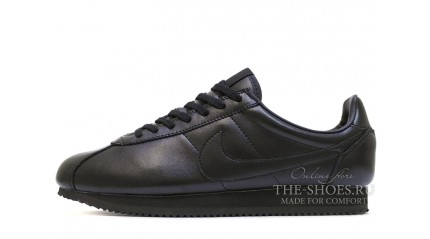 Nike Cortez Leather Full Black Classic