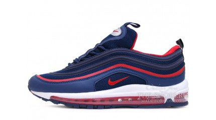 Air Max 97 КРОССОВКИ МУЖСКИЕ<br/> NIKE AIR MAX 97 FED-UP BLUE RED
