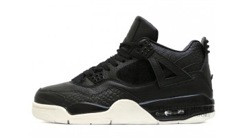 Кроссовки мужские Nike Air Jordan 4 Black Premium Sail