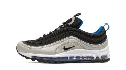 Air Max 97 КРОССОВКИ МУЖСКИЕ<br/> NIKE AIR MAX 97 SILVER STEEL BLACK BLUE