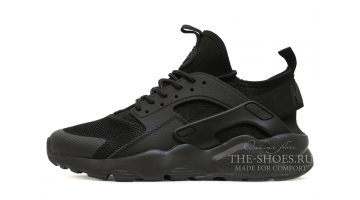 Кроссовки Мужские Nike Air Huarache Ultra BR Black Urban