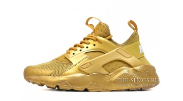 Кроссовки женские Nike Air Huarache Ultra BR Gold custom