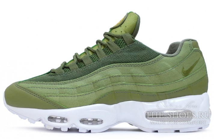 Кроссовки Nike Air Max 95 stussy x olive green
