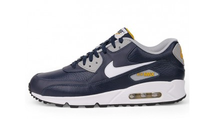 Air Max 90 КРОССОВКИ МУЖСКИЕ<br/> NIKE AIR MAX 90 LEATHER BLUE GREY LODEN