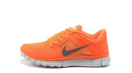 Nike Free run 5.0 Hyper Orange White