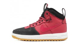 Nike Lunar Force 1 DUCKBOOT Team Red Black бордовые кожаные