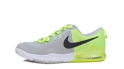 Zoom КРОССОВКИ МУЖСКИЕ<br/> NIKE AIR ZOOM TRAINING GRAY GREEN VOLT
