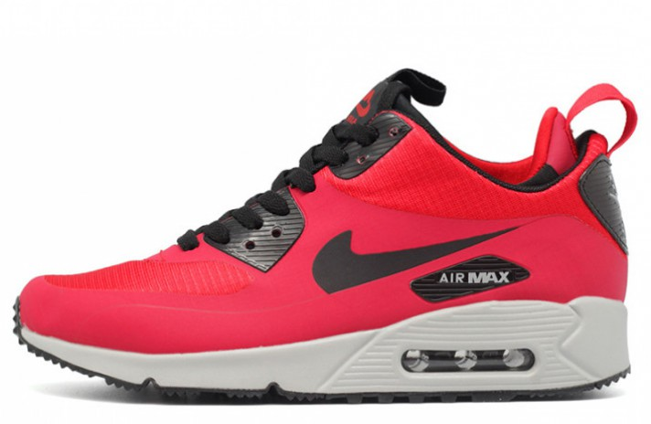 Кроссовки Nike Air Max 90 Mid Red Gym Black