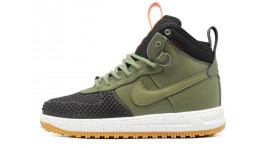 Nike Lunar Force 1 DUCKBOOT Dark Loden Green зеленые кожаные