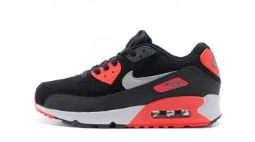 Кроссовки Женские Nike Air Max 90 Essential Black Red