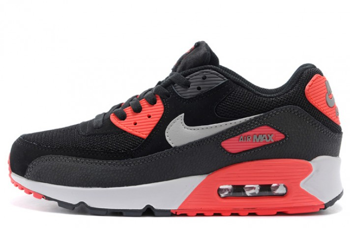 Nike Air Max 90 Essential Black Atomic Red черные