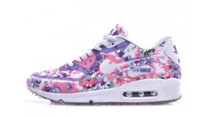 Air Max 90 КРОССОВКИ ЖЕНСКИЕ<br/> NIKE AIR MAX 90 PRM FLOWERS VIOLET WHITE