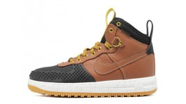 Nike Lunar Force 1 DUCKBOOT Gold Dart Light British Tan Brown коричневые кожаные
