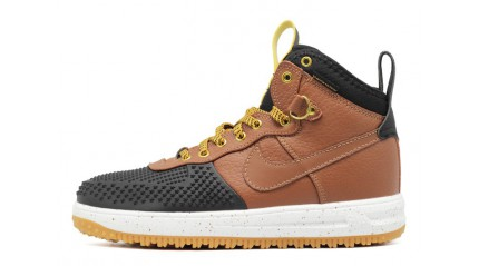 Nike Lunar Force 1 DUCKBOOT Gold Dart Light British Tan Brown