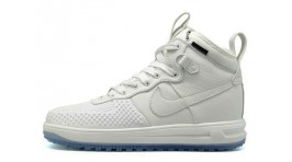 Nike Lunar Force 1 DUCKBOOT White Pure белые кожаные