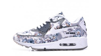 Air Max 90 КРОССОВКИ ЖЕНСКИЕ<br/> NIKE AIR MAX 90 PRM FLOWERS GRAY WHITE